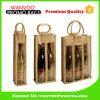 Crear el embalaje del vino para requisitos particulares del bolso del yute