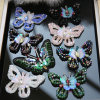 Rhinestone moda 3D Sequin parche bordado de perlas accesorios de prendas de vestir