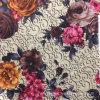 新しいデザインの花、ソファーファブリック、100%年ポリエステルファブリック、ホーム織物に使用する編まれたファブリックの印刷されたファブリック