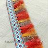 Indumento multicolore della guarnizione del merletto del ricamo della nappa del Pompom di disegno di modo