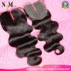 Chiusure superiori brasiliane del merletto dei capelli umani 4*4/4*3.5 di Remy del Virgin eccellente della cuticola
