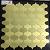 Mozaïek van de Kleur van het Deeg van het Metaal van Irrrgular het direct Gouden