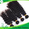 Aofa 100%の加工されていないインドの人間の毛髪の波のRemyの毛の拡張