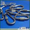 Gancho de leva del broche de presión del resorte de la cuerda de alambre de acero inoxidable 316