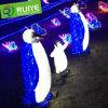 錯覚3D軽いLEDのおもちゃのペンギンのモチーフの屋外の装飾的なライト