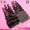 Estensioni dei capelli di Alibaba e chiusure di seta della parte della parte superiore 3/Free/Middle dei fornitori delle parrucche del merletto