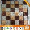 Teja de oro color de la mezcla de pared Tablero de ajedrez de cristal del mosaico (G848016)