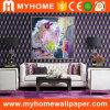 Antecedentes de PVC de TV Sala de estar en 3D Wallpaper