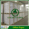Papel compensado blanco de papel sin recubrimiento de la garantía de Woodfree en rodillo/hoja