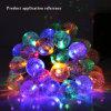 Festival et la décoration de Noël de plein air bulles colorées 30 LED Guirlande solaire de jardin