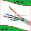 Graues Cat5e Ethernet-Kabel, twisted pair U/UTP 305m mit Hochleistungs-, CPR genehmigt