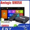 Cadre androïde de TV satellite de la boîte Em95X à la guimauve TV de l'androïde 6.0 d'Amlogic S905X d'usine de recherche et développement d'Eny