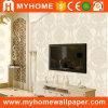 Antecedentes de TV Sala de estar PVC Papel tapiz floral de Damasco