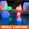 Flutuante 16 cores Waterproof IP65 Rechargeable RGB LED Pool Ball