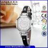 Wristwatches повелительниц кварца кожаный планки вахты способа водоустойчивые (Wy-073E)