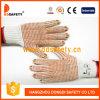 Le coton/Polyestergloves de blanc de Ddsafety 2017 avec le PVC sans joint et noir pointille des gants
