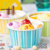子供DIYのアイスクリームのコップのケーキのコップの飲料の使い捨て可能な紙コップ