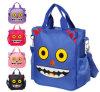 O estilo dos desenhos animados do saco de Tote do saco de mão das crianças carreg a trouxa da escola do Um-Ombro do saco