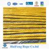 Cuerda ultra de molecularidad elevada amarilla de Polyethlene del peso de 12 hilos