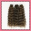 Человеческие волосы Weaving Curly Hair 18inches качества бразильские