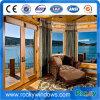 Finestra francese incurvata colore di legno della stoffa per tendine di alluminio superiore