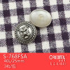 Anti-Silver Military di plastica Button con Shank