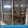 Il nero naturale della Cina Portopo e lastre di pietra di marmo dei controsoffitti dell'oro