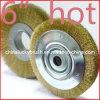 6インチの黄色い鋼線の円形の車輪のブラシ(YY-240)