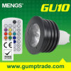 Mengs&reg ; GU10 4W RVB Dimmable DEL Spotlight avec du CE RoHS, Warranty de 2 Years, IR Music Mood Control (110160029)