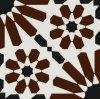 Bruin Borhemia Stijl Verglaasd Porselein Tile20*20cm