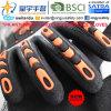 И Anti-Impact Cut-Resistance TPR перчатки, 18g Hppe Cut-Level оболочки 3, песчаный нитриловые упор для рук с покрытием, Anti-Impact TPR на задней стороне механик перчатки