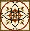 Waterjet van de vloer de Marmeren Tegel van het Medaillon