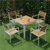 حديقة أثاث لازم مجموعة, كرسي تثبيت بلاستيكيّة خشبيّة وطاولة