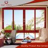 Perfil de aluminio Windows de desplazamiento esmaltado doble del grano de madera para residencial