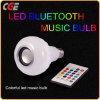 Светодиодная подсветка RGB ламп с регулируемой яркостью Wireless Bluetooth воспроизведение музыки лампы с пультом дистанционного управления Smart LED лампы говорить 7W/9W/12Вт Светодиодные индикаторы