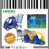 Kind-kaufenlaufkatze mit Spielzeug-Autos für Supermarkt