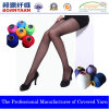 Poliester Covering Spandex Yarn para Pantyhose Without Gusset