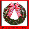 Европейский стиль Рождественский венок декоративные висящих светодиодный индикатор праздника