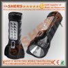 Перезаряжаемые электрофонарь 1W СИД с светильником чтения 12 СИД (SH-1913)