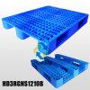De Plastic Pallets van L1200*W1000*H155mm HDPE/PP; 3 agenten; Open Dek; met de Buizen van het Staal