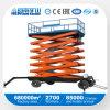 Tipo movible plataforma de elevación de cuatro ruedas