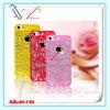 Ahuecar hacia fuera a Rose Flower Plastic Cell Phone Caso para el iPhone 5 5s