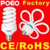 Lumière d'économie d'énergie de la spirale CFL de la fleur CFL de prune la pleine