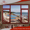 Casement americano Windows da vitrificação dobro do estilo com grade de alumínio/grades