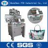 De cama plana automática máquina de impresión de pantalla film plástico/ropa de cuero