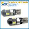 Alta calidad Canbus T10 sin error 194 168 bombilla de la cuña lateral blanca de W5w 5630 LED 6 SMD