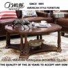 Ultimo tavolino da salotto rotondo di legno solido di disegno semplice per uso domestico con buona qualità As838