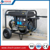 Les roues de la poignée de 5,5 Kw moteur à essence électrique de groupe électrogène portable