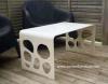 Corian 단단한 지상 옥외 사용 정원 테이블 세트