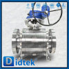 Anti robinet à tournant sphérique duplex de tourillon d'acier inoxydable de la charge statique F51 de Didtek